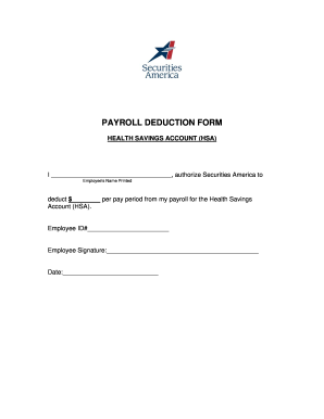 Payroll Deduction Form Templates - Fillable & Printable Samples ...