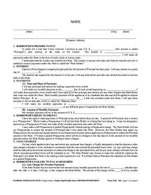 florida fixed rate note form 3210 pdf fannie mae simple promissory