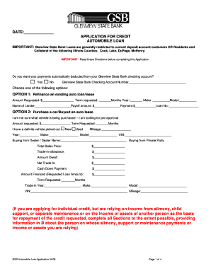 auto loan worksheets form
