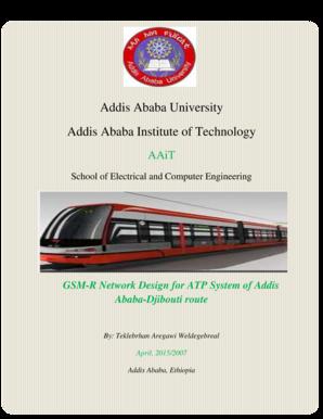 Fillable Online etd aau edu GSM-R Based Automatic Train