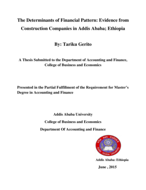 Fillable Online etd aau edu Tariku Gerito Thesispdf - Addis Ababa