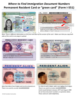 permanent resident card document number Green Card Document Number - Fill Online, Printable, Fillable, Blank ...