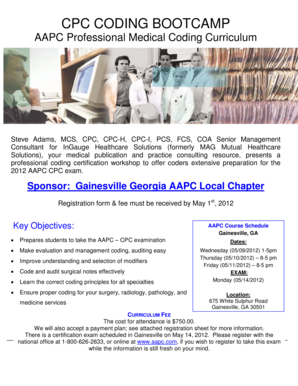 Fillable Online CPC CODING BOOTCAMP Fax Email Print - PDFfiller