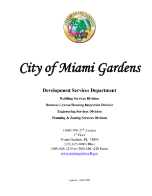 Business LicenseHousing Inspection Division - miamigardens-fl