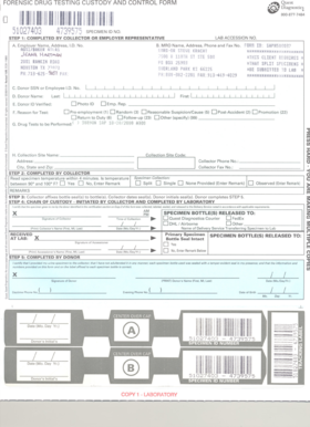 Fillable Online FORENSIC DRUG TESTING CUSTODY AND CONTROL FORM ...