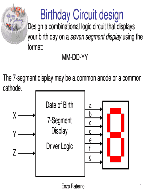 3 - Birthday Circuit Design Project Fill Online, Printable, Fillable ...