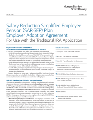 Fillable Online Salary Reduction Simplified Employee Pension SAR-SEP