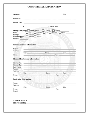 commercial tenant information form - Fillable & Printable Top ...