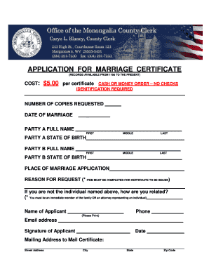 Fillable free marriage certificate template word edit print free marriage certificate template word application for marriage certificate records available from 1795 to the present cost 5 yadclub Images