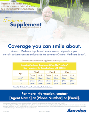 Fillable Online Medicare Supplement - Americo Fax Email