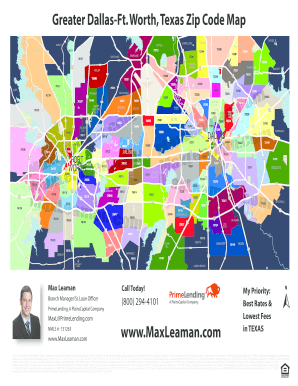 Zip Code Map Of Fort Worth Tx  Zip Code Map