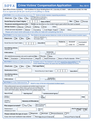 SOVA Application - SC State Office of Victim Assistance - SCgov