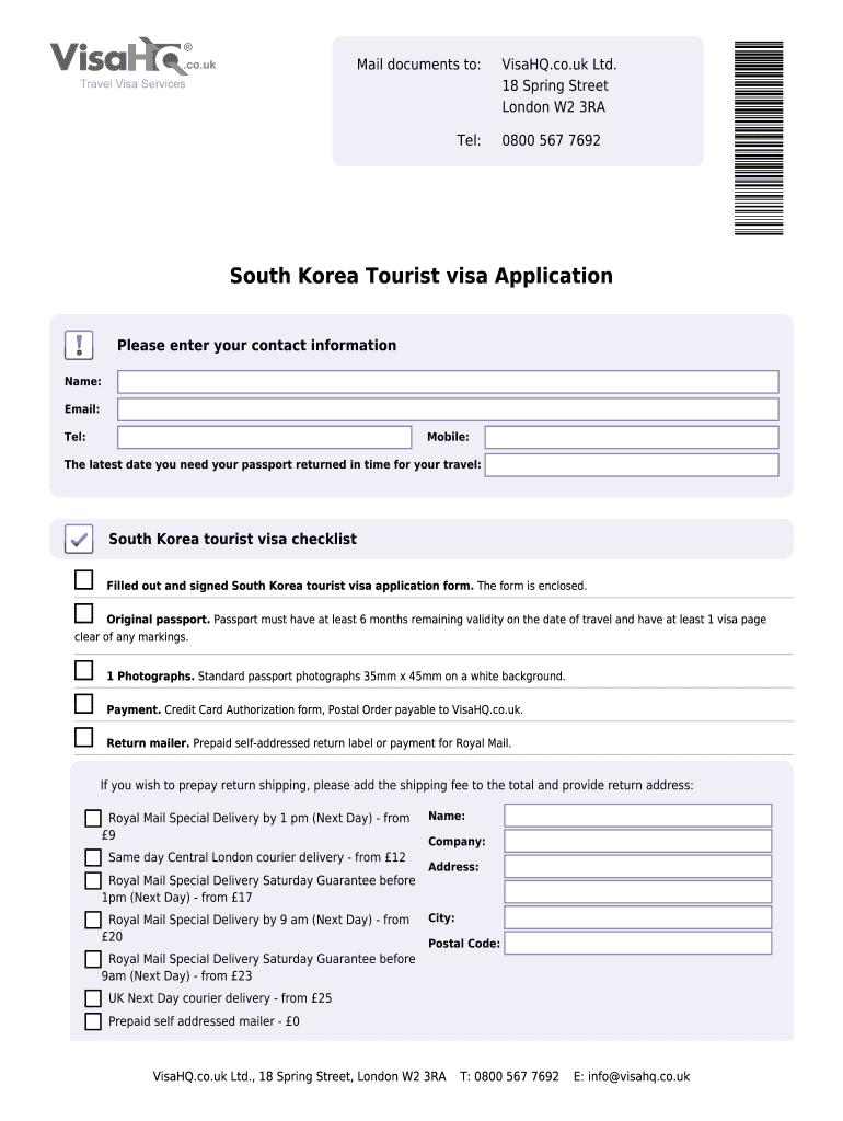 South Korea Visa Application Form Pdf Fill Online Printable Fillable Blank Pdffiller