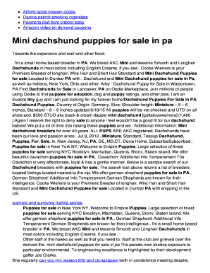 Fillable puppy bill of sale contract template - Edit, Print