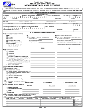 E4 Form Sss - Fill Online, Printable, Fillable, Blank | PDFfiller