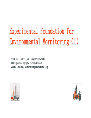 Experimental Foundation for