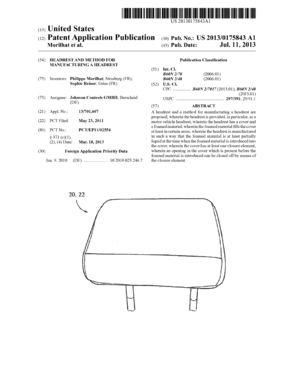 Headrest and method for manufacturing a headrest