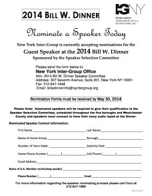 nyintergroup Fillable Online nyintergroup Nominate a Speaker Today - nyintergroup ...