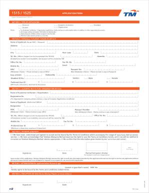 Fillable Online tm com 1515 1525 APPLICATION FORM - Telekom ...