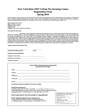 Ny Dmv Registration Form >> Dmv Ny Road Test Edit Fill Out Top Online Forms Download