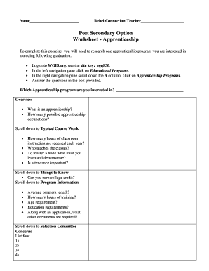 College Comparison Worksheet - lwsd