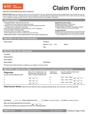 aspca claim form aspca pet health insurance claim form - Dean.routechoice.co