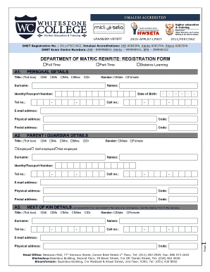 College Registration Form Fill Online Printable Fillable Blank Pdffiller