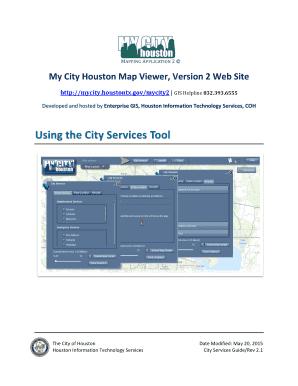 Fillable Online Mycity Houstontx My City Houston Map Viewer Version