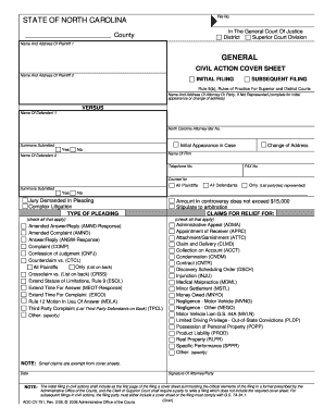 SUBSEQUENT FILING  Civil Complaint Template