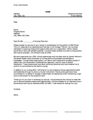 simple email cover letter