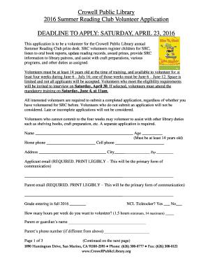 211811085 Volunteer Application Form Public Liry on