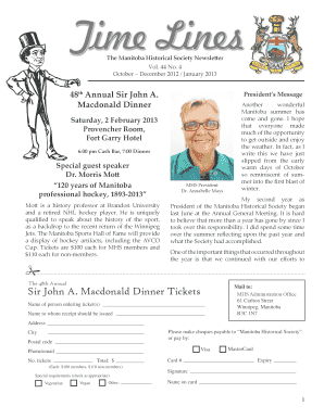The Manitoba Historical Society Newsletter Vol - mhs mb