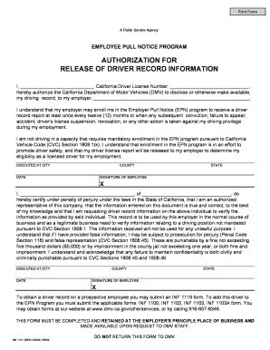 Release Authorization Notice