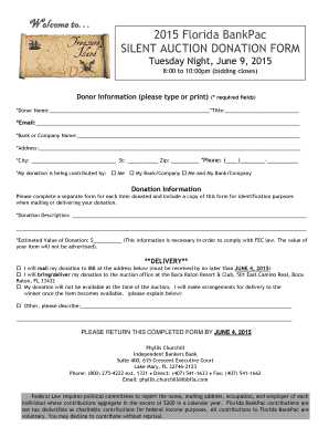 Silent Auction Donation Form Template Fill Out Print Download Court Forms In Word Pdf