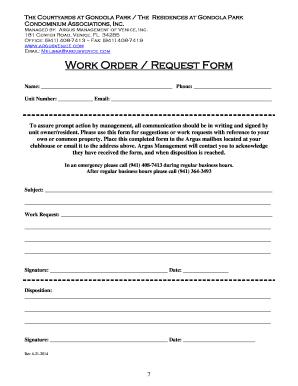 28 printable work order request form templates fillable. Black Bedroom Furniture Sets. Home Design Ideas