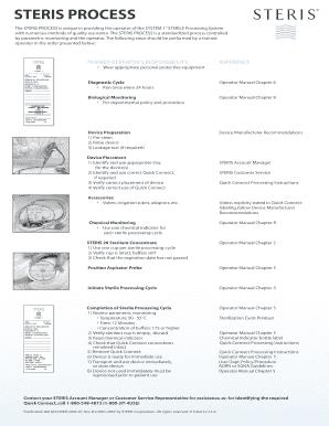 steris - Fill, Print & Download Online Samples & Templates