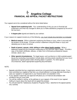 financial aid appeal 2 essay Policies and disclosures is ineligible for state and federal financial aid to review appeals you should plan for 2-3 weeks from the time you.