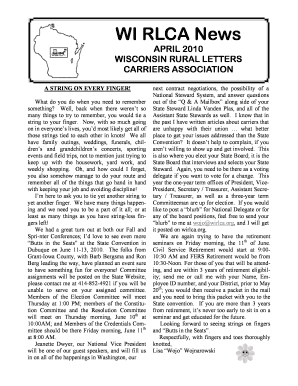 WISCONSIN RURAL LETTERS