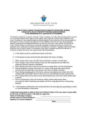 CODE OF ETHICAL CONDUCT FOR EMPLOYEES OF COMPANYS - archstl