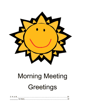 Fillable online dallasisd morning meeting greetings dallas isd fill online m4hsunfo