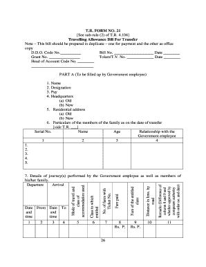 212388725-ta-bill-form-no-21 Ta Application Form Examples Zd on