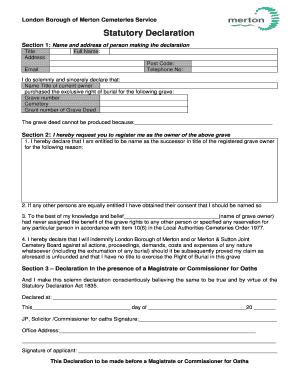 Statutory declaration sample letter fillable printable top lbm statutory declarationdoc altavistaventures Choice Image