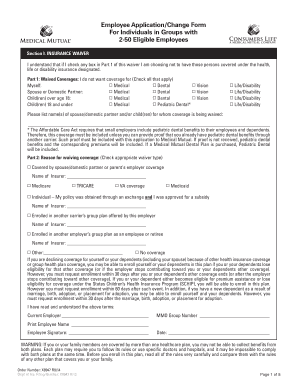 Employee ApplicationChange Form