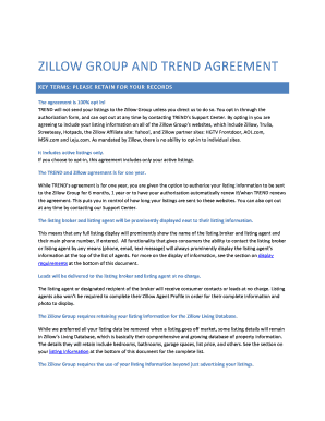 Zillow Lease Agreement Edit Fill Print Download Online