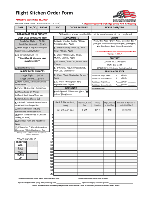 kitchen order form  Fillable Online Flight Kitchen Order Form - Offutt 8th FSS ...