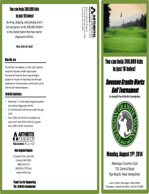 Fillable Online Swenson Granite Works Golf Tournament