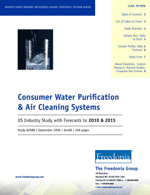 Consumer Water Purification Air Cleaning Systems