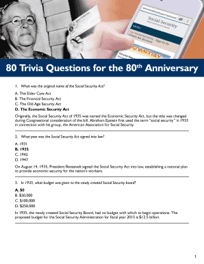 Fillable Online 80 Trivia Questions for the 80th Anniversary