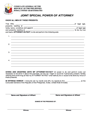 what is power of attorney form  What Is Joint Special Power Of Attorney - Fill Online ...