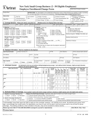 Aetna enrollment change form - Edit Online, Fill Out & Download ...